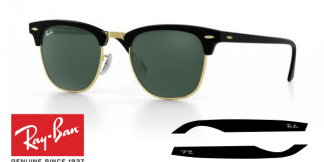 Branches-Ray-Ban 3016 Clubmaster Originaux